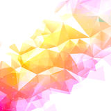 Geometryczny abstrakcjonistyczny niski poli- tło Fotografia Stock