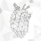 Geometryczny abstrakcjonistyczny serce Obrazy Royalty Free