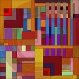 geometryczny abstrakcjonistyczny skład ilustracja wektor