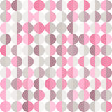 Geometryczny abstrakcjonistyczny tło z pastelowymi okręgami royalty ilustracja