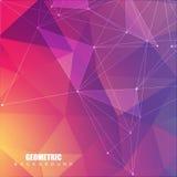 Geometryczny abstrakcjonistyczny tło z związaną linią i kropkami Struktury komunikacja i molekuła Naukowy pojęcie dla ilustracji