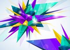 geometryczny abstrakcjonistyczny tło Obrazy Royalty Free