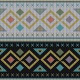 Geometryczny abstrakt dziający wzór Abstrakcjonistyczny etniczny bezszwowy klepnięcie Ilustracji