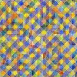 Geometryczny akwarela wzór Zdjęcie Stock