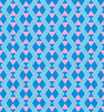 Geometryczny błękita wzór Obrazy Royalty Free