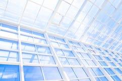Geometryczny błękitny abstrakcjonistyczny tło z trójbokami i liniami Zdjęcie Stock