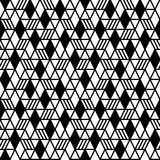 Geometryczny bezszwowy deseniowy tło Zdjęcia Royalty Free