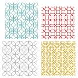 Geometryczny bezszwowy wyplata linia wzór Obrazy Royalty Free