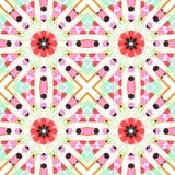 Geometryczny bezszwowy wzór Obrazy Stock