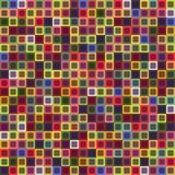 Geometryczny bezszwowy wzór kwadrat, abstrakcjonistyczny tło W kratkę projekt, jaskrawi stubarwni kwadraty Dla Zdjęcie Stock