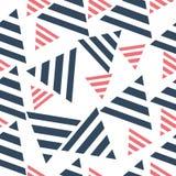 Geometryczny bezszwowy wzór, trójboki Pojęcie sztuka, ilustracja Zdjęcie Royalty Free