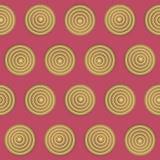Geometryczny bezszwowy wzór w retro stylu 2 Fotografia Royalty Free