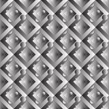 Geometryczny bezszwowy wzór z gradientowymi kształtami royalty ilustracja