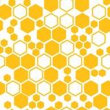 Geometryczny bezszwowy wzór z honeycomb również zwrócić corel ilustracji wektora royalty ilustracja