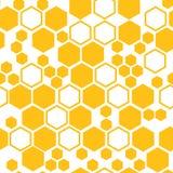 Geometryczny bezszwowy wzór z honeycomb również zwrócić corel ilustracji wektora ilustracja wektor