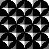 Geometryczny czarny i biały wzór, tło/ Płynnie repea royalty ilustracja