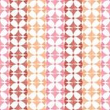 Geometryczny czerwony ikat paskuje bezszwowego wzór Obraz Royalty Free