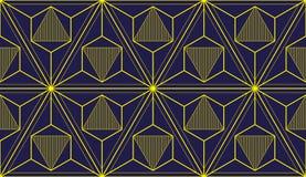 Geometryczny 3d wykłada abstrakcjonistycznego bezszwowego wzór, wektorowy tło ilustracji