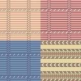 geometryczny deseniowy set Obraz Royalty Free