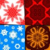 geometryczny deseniowy set Obrazy Royalty Free