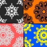 geometryczny deseniowy set Obrazy Stock