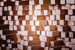 Geometryczny drewniany tło Fotografia Stock