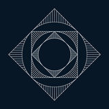 Geometryczny element, okrąg i kwadrat, Obrazy Stock