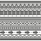 Geometryczny etniczny bezszwowy wzór royalty ilustracja