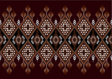 Geometryczny etniczny wzór Zdjęcie Royalty Free