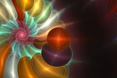 Geometryczny fractal kształt może ilustrować rojenie wyobraźni psychodelicznych astronautycznych sen wybuchu bomby atomowej częst Zdjęcia Stock