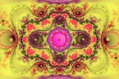 Geometryczny fractal kształt może ilustrować rojenie wyobraźni psychodelicznych astronautycznych sen wybuchu bomby atomowej częst Zdjęcie Royalty Free