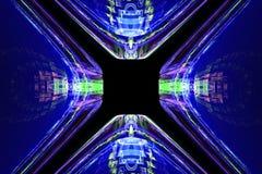 Geometryczny fractal kształt może ilustrować rojenie wyobraźni psychodelicznych astronautycznych sen wybuchu bomby atomowej częst Obrazy Royalty Free