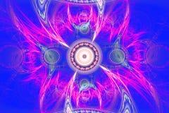 Geometryczny fractal kształt może ilustrować rojenie wyobraźni psychodelicznych astronautycznych sen wybuchu bomby atomowej częst Obraz Royalty Free