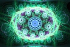 Geometryczny fractal kształt może ilustrować rojenie wyobraźni sen magii psychodelicznego astronautycznego wybuch bomby atomowej Fotografia Royalty Free