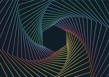 Geometryczny Kreskowej sztuki tło, Abstrakcjonistyczny Heksagonalny Geometryczny tło ilustracji