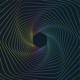 Geometryczny Kreskowej sztuki tło, Abstrakcjonistyczny Heksagonalny Geometryczny tło Zdjęcia Stock