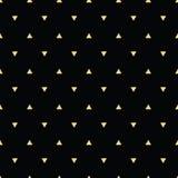 Geometryczny kreskowy złocisty abstrakcjonistyczny bezszwowy wzór z trójbokiem Fotografia Royalty Free