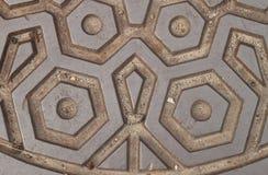 Geometryczny Kruszcowy wzór Obraz Royalty Free