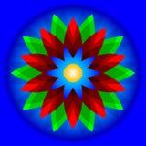 Geometryczny kwiat Zdjęcie Stock