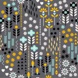 Geometryczny kwiat i bezszwowy pa Ornamentacyjny, tradycyjny, prosty, ilustracja wektor