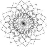 Geometryczny kwiat - kurenda deseniowy lotosowy kwiat, mandala, motyw ilustracji