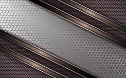Geometryczny lekki tło z metalu grille z lampasami, obdzierganie Obraz Stock