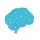 Geometryczny ludzki mózg w trójbokach Zdjęcia Stock