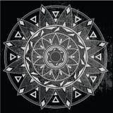 Geometryczny mandala na tle Obraz Royalty Free