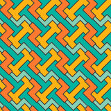 Geometryczny mozaika wzór Wektorowy bezszwowy abstrakt Zdjęcie Stock
