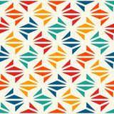 Geometryczny nowożytny druk Współczesny abstrakcjonistyczny tło z częstotliwymi trójbokami Bezszwowy wzór z origami formami ilustracja wektor