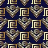 Geometryczny Nowożytny Wektorowy Bezszwowy wzór niebieski tła nowocześnie obraz royalty free