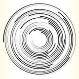 Geometryczny okręgu element Abstrakcjonistyczny monochromatyczny okręgu kształt ilustracji