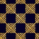Geometryczny Pasiasty ornament Wektorowi złociści bezszwowi wzory Obraz Stock