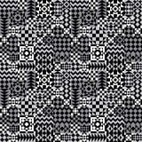 Geometryczny patchworku wzór w Popielatym Fotografia Stock